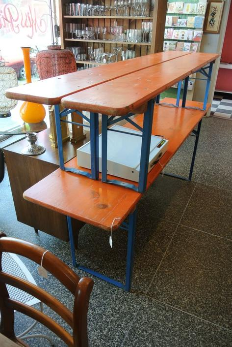 German biergarten patio table and bench set