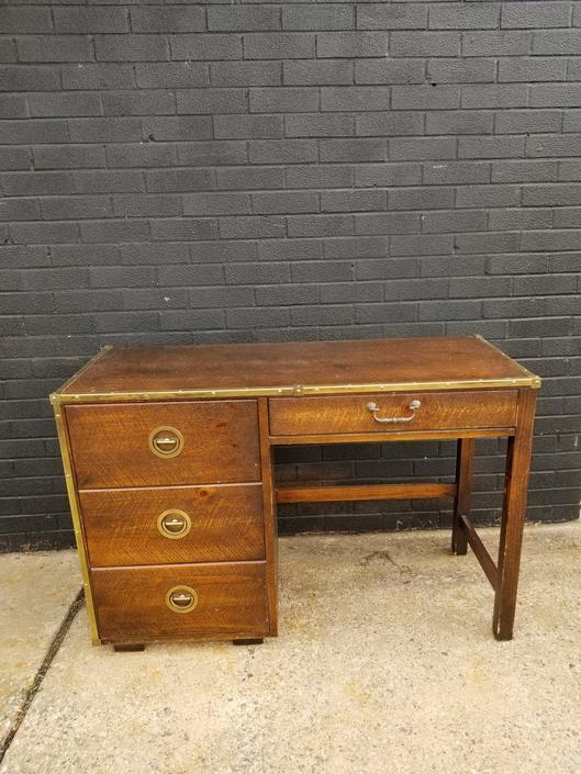 1970s Basset Furniture Campaign Desk