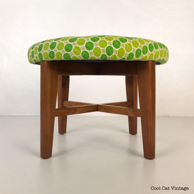 Restored 1950s Ottoman with New Foam and Fabric - *Please see notes on shipping before you purchase. by CoolCatVintagePA
