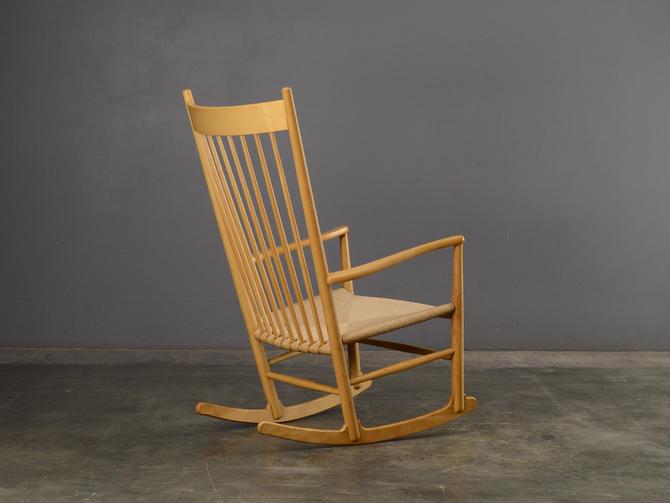 Hans Wegner J16 Rocking Chair Mid Century Danish Modern Rocker by MadsenModern