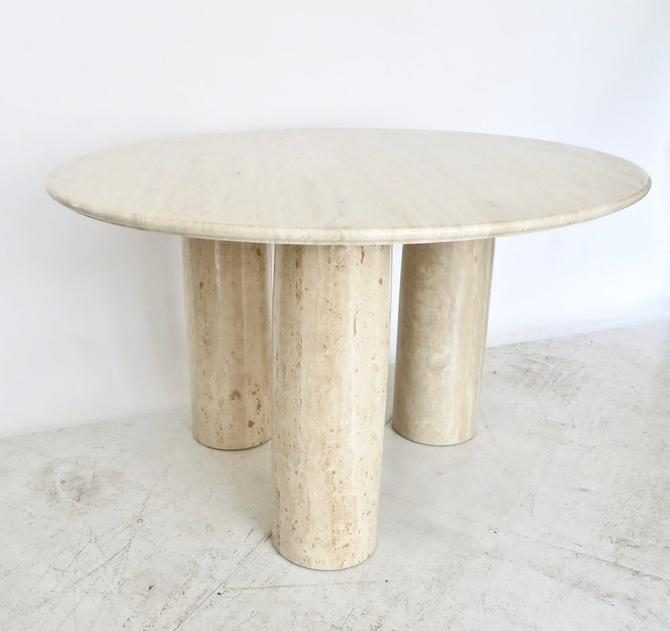 Mario Bellini Italian Travertine Il Colonnato Dining Table for Cassina