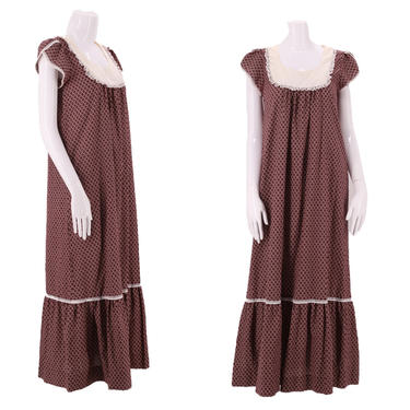 70s LIBERTY HOUSE print prairie maxi dress  / vintage 1970s calico print cottage core maxi peasant dress S-M by ritualvintage
