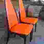 Vintage Atomic Stakmore Walnut Folding Chair Pair