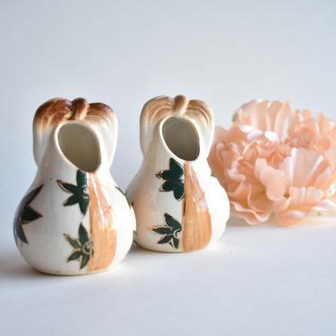 Individual Salt Cellars Porcelain | Occupied Japan Gilded Handpainted Bud Vases | Hairpin Jar | Small Storage Kitchen Spices | Salt Server by LostandFoundHandwrks
