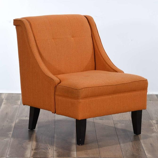 Retro Orange Slipper Chair