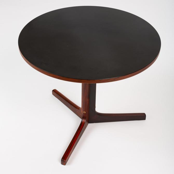 Round Rosewood Side Table with Laminate Top by Artex
