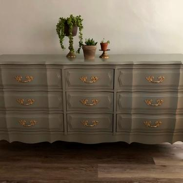 SOLD... The Mireille... French Provincial 9 Drawer Dresser by emmaleejanedesign