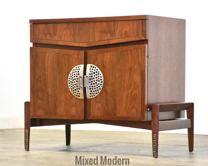 Hobey Helen Baker Walnut Nightstand by mixedmodern1