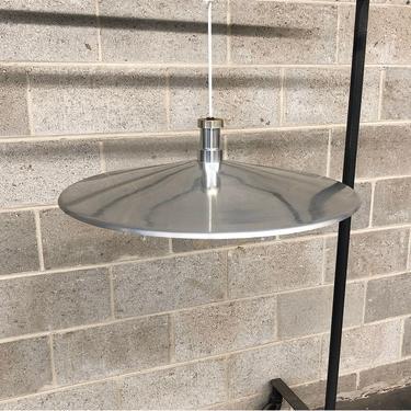 Vintage Pendant Lamp Retro 1960s Mid Century Modern + Stainless Steel + Industrial Kitchen + Large Hanging Lamp + Lighting + MCM Home Decor by RetrospectVintage215