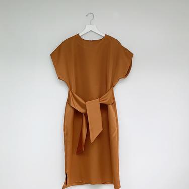 Brown satin dress by shopjoolee