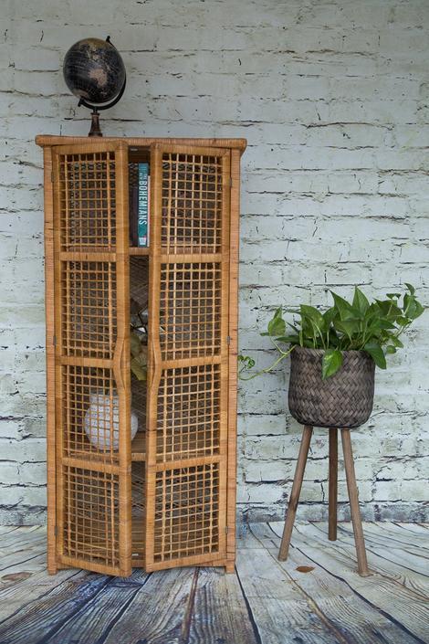 SHIPPING NOT FREE! Vintage Wicker Dresser/ Wicker cabinet/Bookcase/ Book shelf by WorldofWicker
