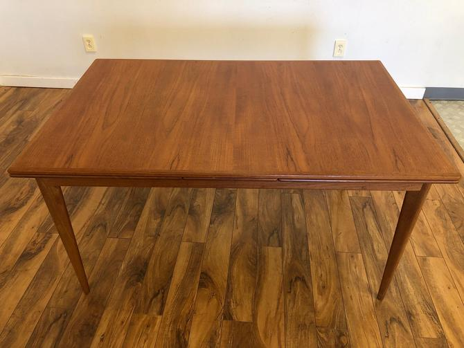 Nils Jonsson Troeds Teak Draw Leaf Dining Table by Vintagefurnitureetc