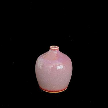 Vintage 1980s Modernist Art Pottery Vase in Purple & Red Glazes Laslo Design for Mikasa Japan 20th Century Post Modern by SwankyChaperooo