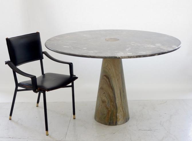 Italian Architect and Designer Angelo Mangiarotti Arabescato Orobico Dining Table