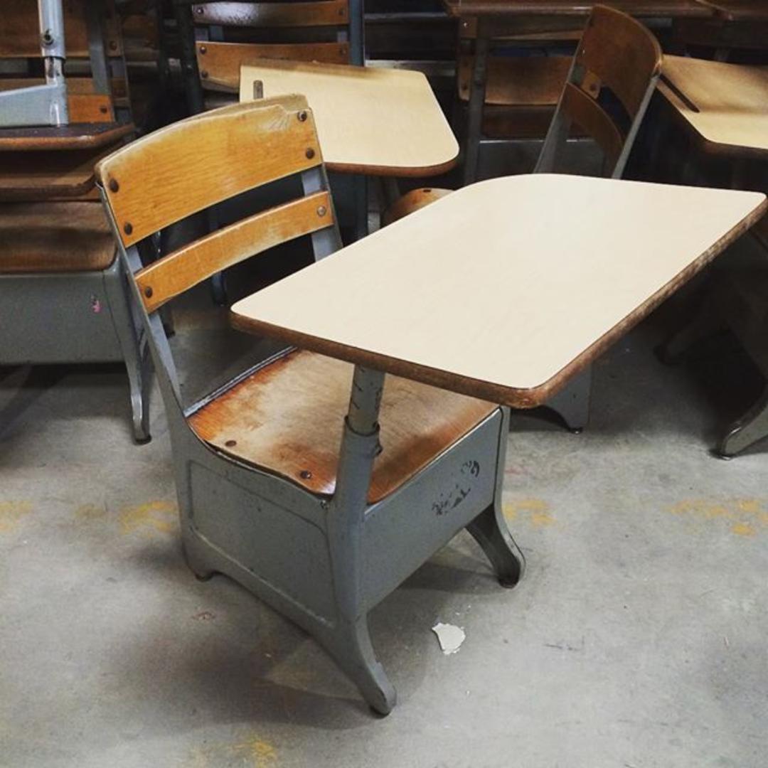 Vintage American Desk Quot The Crusader Quot Model Child S School