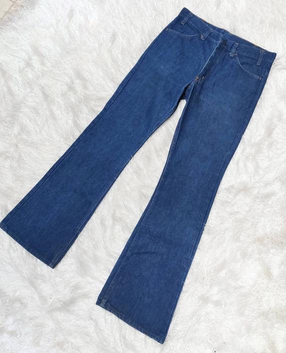 Vintage 70s Sears Jeans // Denim Flared High Rise Pants by GemVintageMN