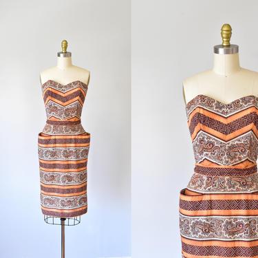 Sabrina novelty print 1950s dress, rockabilly 50s dress, pinup marilyn monroe by ErstwhileStyle