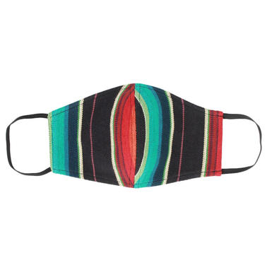 Serape Face Mask With Filter Pocket/Washable-Made in USA-Adult-2 Layers - Woven Canvas Material by VintageGaleria