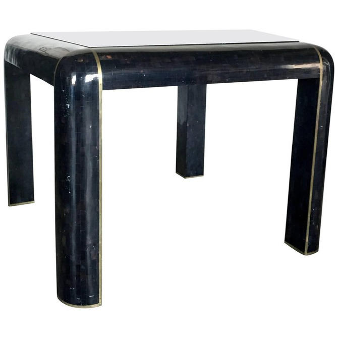 Tesselated Horn Game Table or Small Dining Table by Maitland Smith by HermansSteelGarage