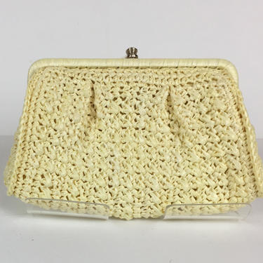 Vintage 1960s Woven Convertible Clutch Made in Japan by timelesspieces