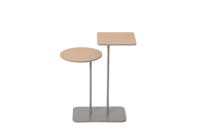 contemporary two-tier cocktail table