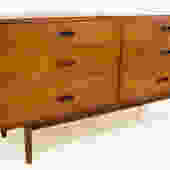 Jack Cartwright for Founders Walnut Lowboy Dresser