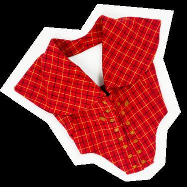 Vivienne Westwood F/W 1995 red plaid corset