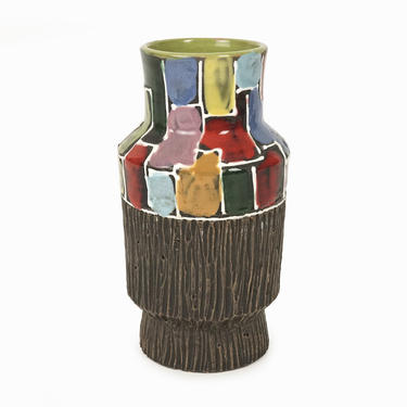 Italian Ceramic Vase Mid Century Modern Italy Fine Art Ceramics by VintageInquisitor