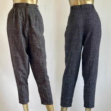 Gray Plaid 1980's High Trousers Medium by BeggarsBanquet