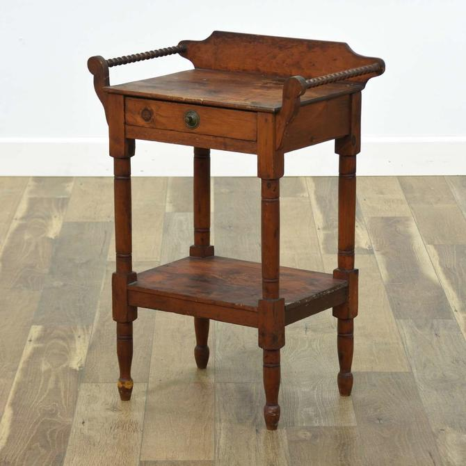 American Provincial End Table W Storage