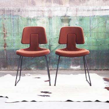"""Extremely RARE Post Modern SET of 4 1970s 1980s Herman Miller Mid Century Vtg. mcm """"Puzzle Chairs"""" Eames Brown Wool Accent Chair side Dining by CatchMyDriftVintage"""