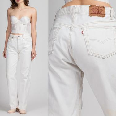 Vintage Levi's 501s White Denim Jeans - 34x34, Men's Medium, Women's Large   80s Relaxed Fit Unisex Jeans by FlyingAppleVintage