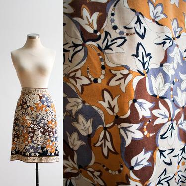 Vintage 1960s Emilio Pucci Skirt / Velour Velvet Skirt / Psychedelic Print Skirt / 60s Psychedelic Emilio Pucci Skirt / 60s A Line Skirt by milkandice