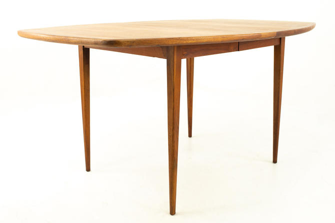 Dillingham Mid Century Walnut Surfboard 8 Person Dining Table - mcm by ModernHill