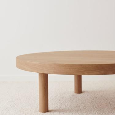 White Oak Coffee Table Round - Free Shipping by OlivrStudio