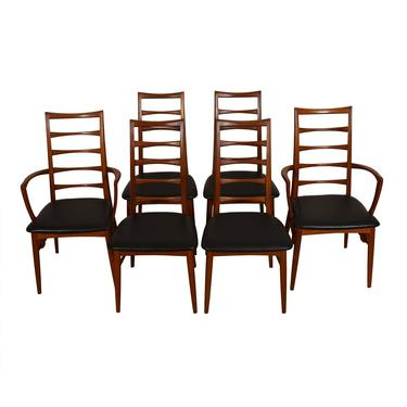 Set of 6 Koefoed Hornslet Danish Teak Dining Chairs