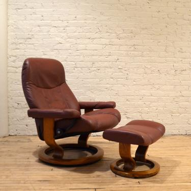 Ekornes Stressless Danish Leather High-End Recliner Chair by RLChicago
