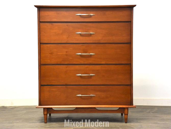 Lane Walnut MCM Tall Dresser by mixedmodern1