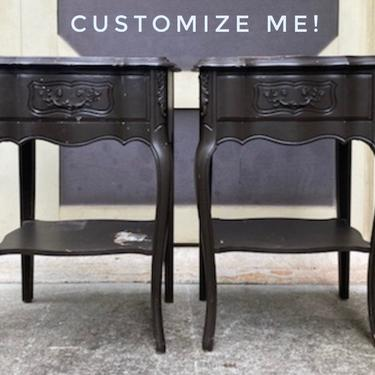 Available for Customization | French Provincial Nightstands.  Old World French Country Vintage Bedside Tables. Choose Your Finish by HouseofAalia