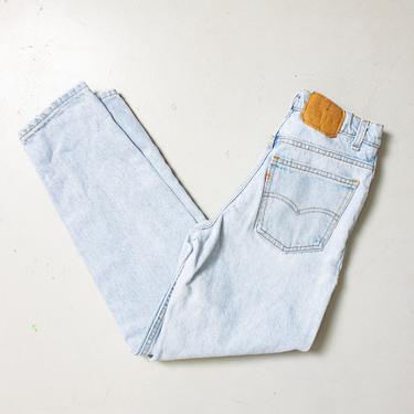 """Vintage Levi's 550 JEANS - Cotton Denim Straight Leg High Waist Student Fit Jeans 1980s - 27"""" x 27"""" by dejavintageboutique"""