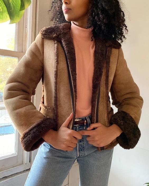 70s Sheepskin Shearling Coat