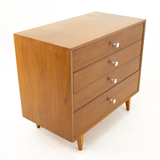 George Nelson for Herman Miller Mid Century Walnut 4 Drawer Dresser Chest - mcm by ModernHill