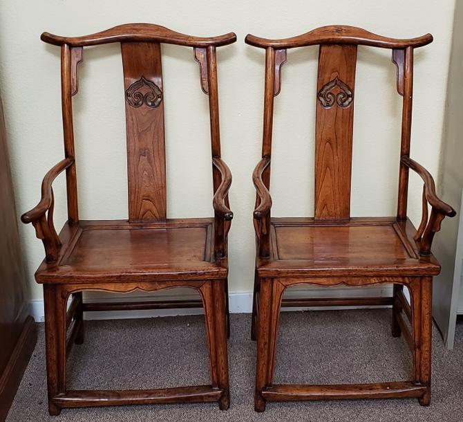 Item #NL38 Pair of Vintage Rosewood Arm Chairs