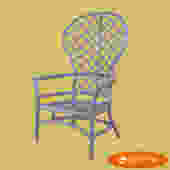 Ficks Reed Balloon Back Purple Chair