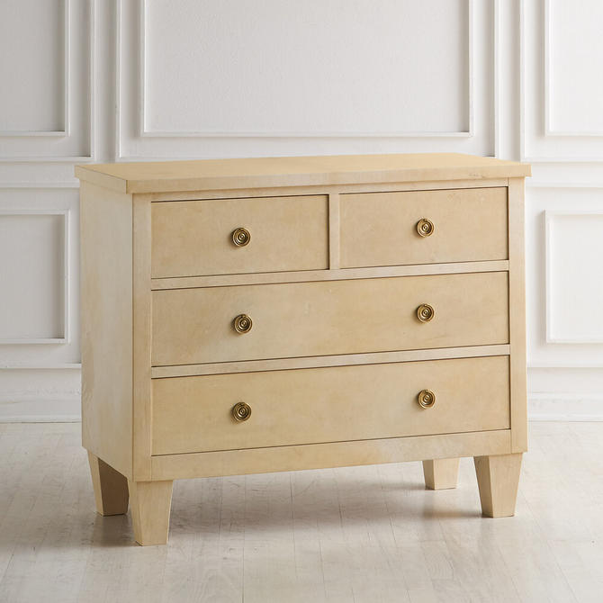 Parchment Covered Dresser