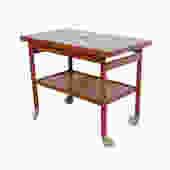 Teak Bar Cart Jason Mobler Model 111 designed Kurt Østervig Rolling tea cart Danish Modern   1960 by HearthsideHome
