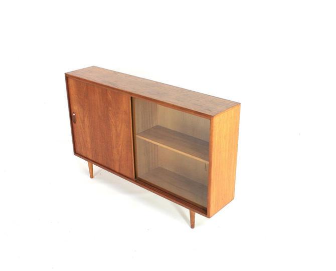 Mid Century Danish Teak Display Cabinet/Bookcase by SputnikFurnitureLLC