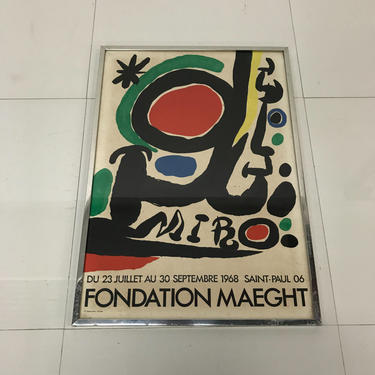 FONDATION MAEGHT Joan Miro Abstract Poster 1968 Paris France by AMBIANIC