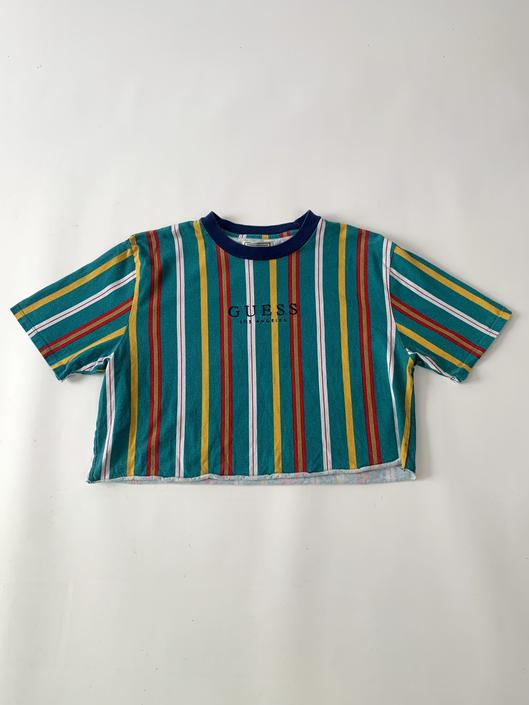 Cropped Striped Guess Tee