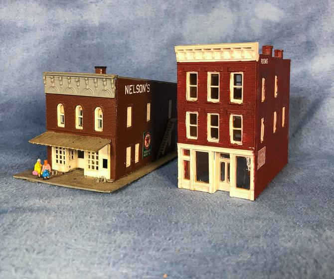 Vintage Pair of Small Town America Store and Hotel Buildings, N Scale by  VintageGoofball